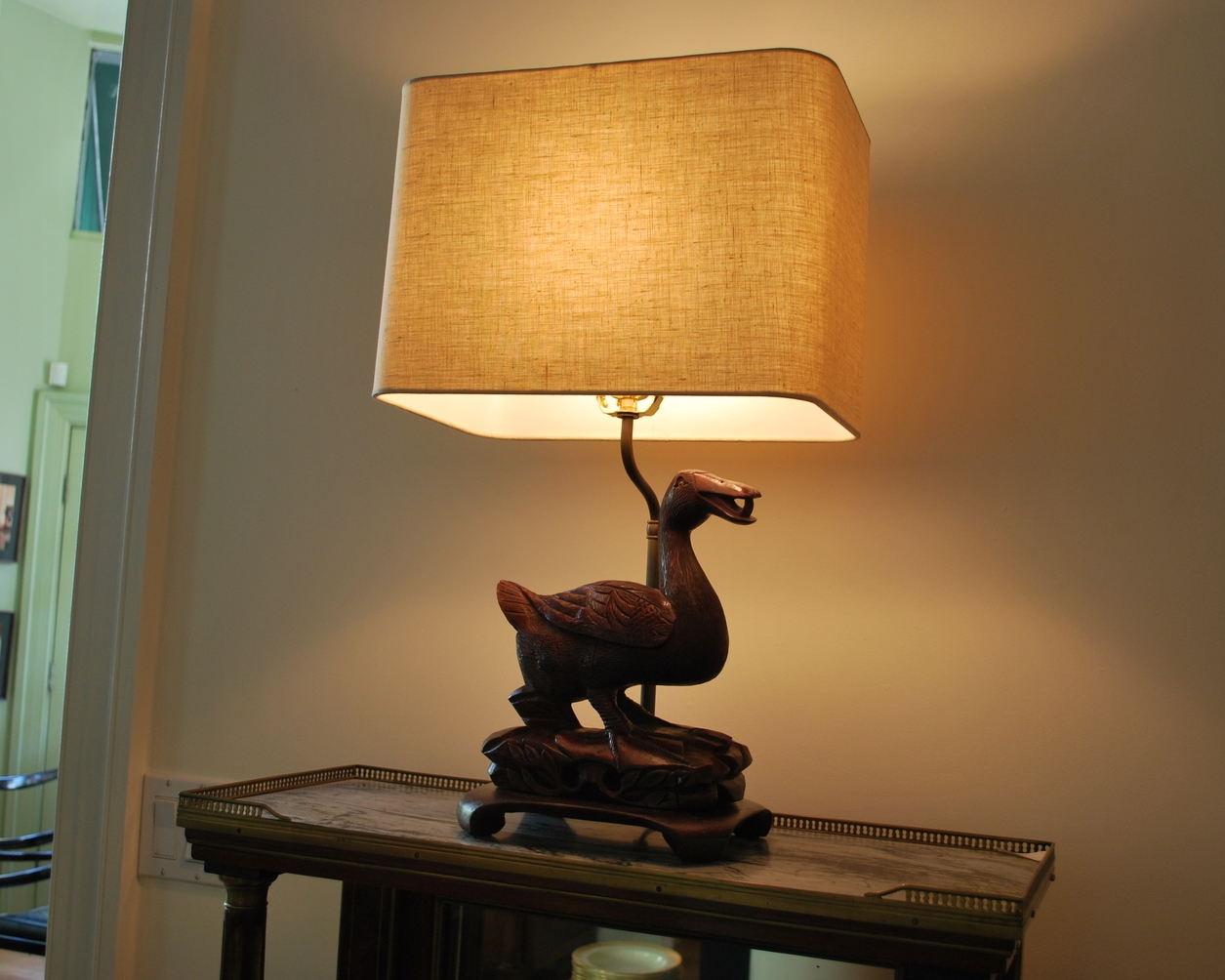 "Duck -$800  Height: 11.5"" (base)   Diameter:"