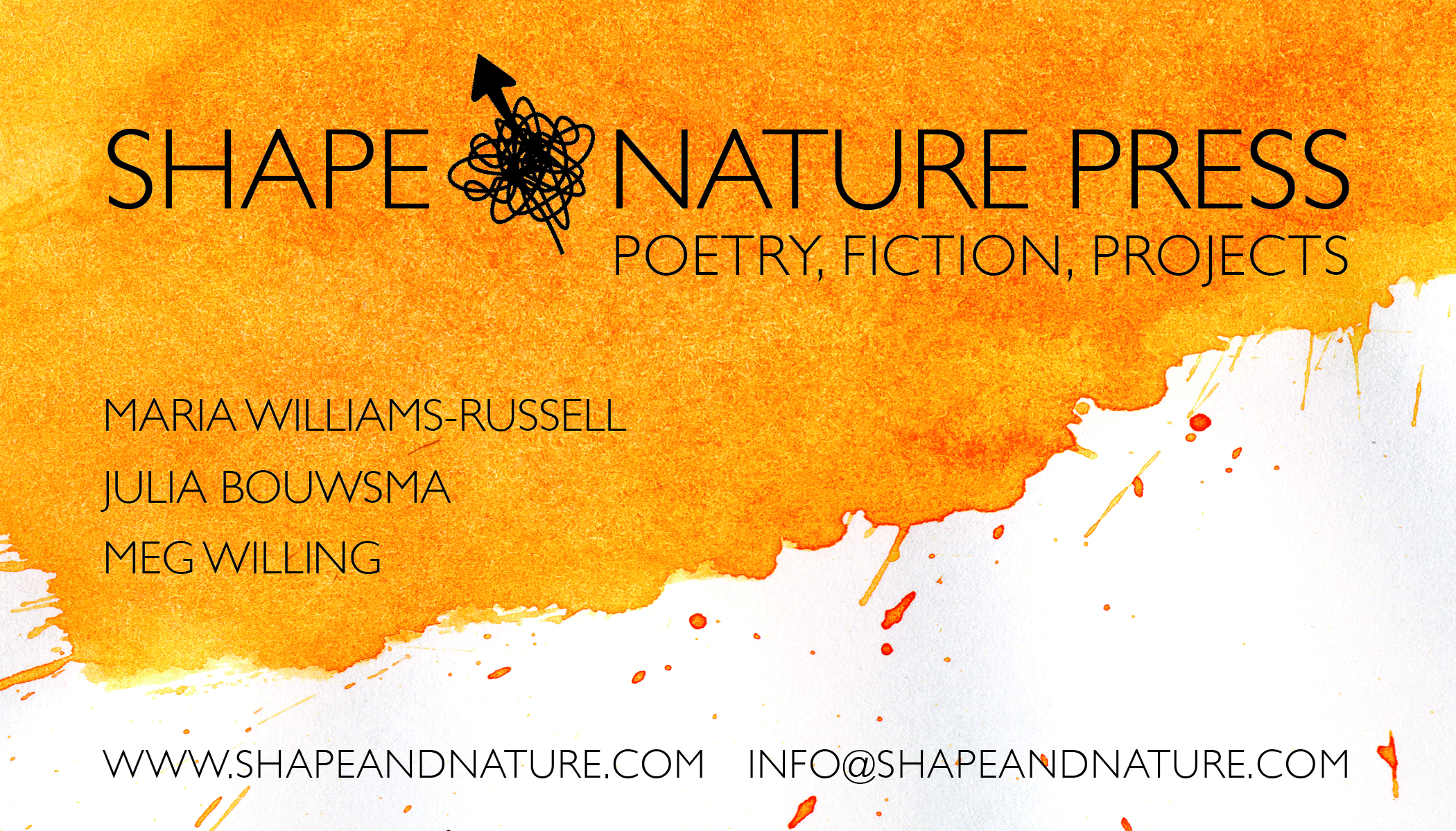 Shape&Nature Press business card.