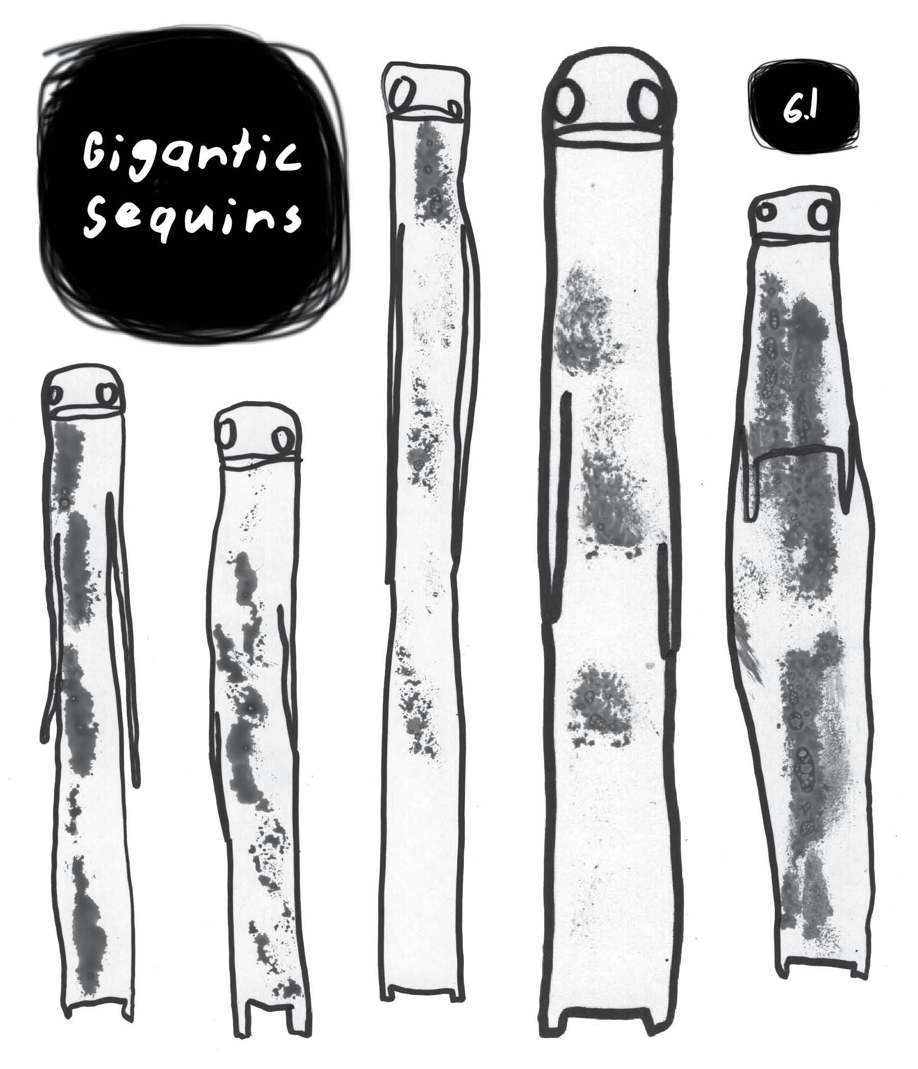 Gigantic Sequins  , issue 6.1. Cover art by Erkembode.
