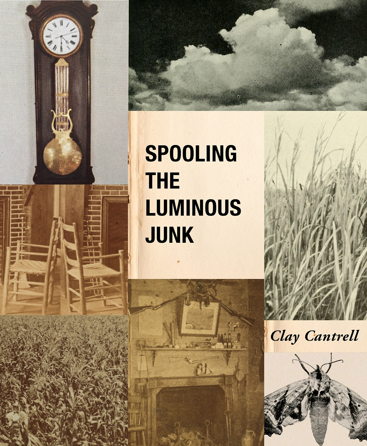 Cover + interior design for Clay Cantrell's  Spooling the Luminous Junk  ( BOAAT Press , 2018). Read in full  here .