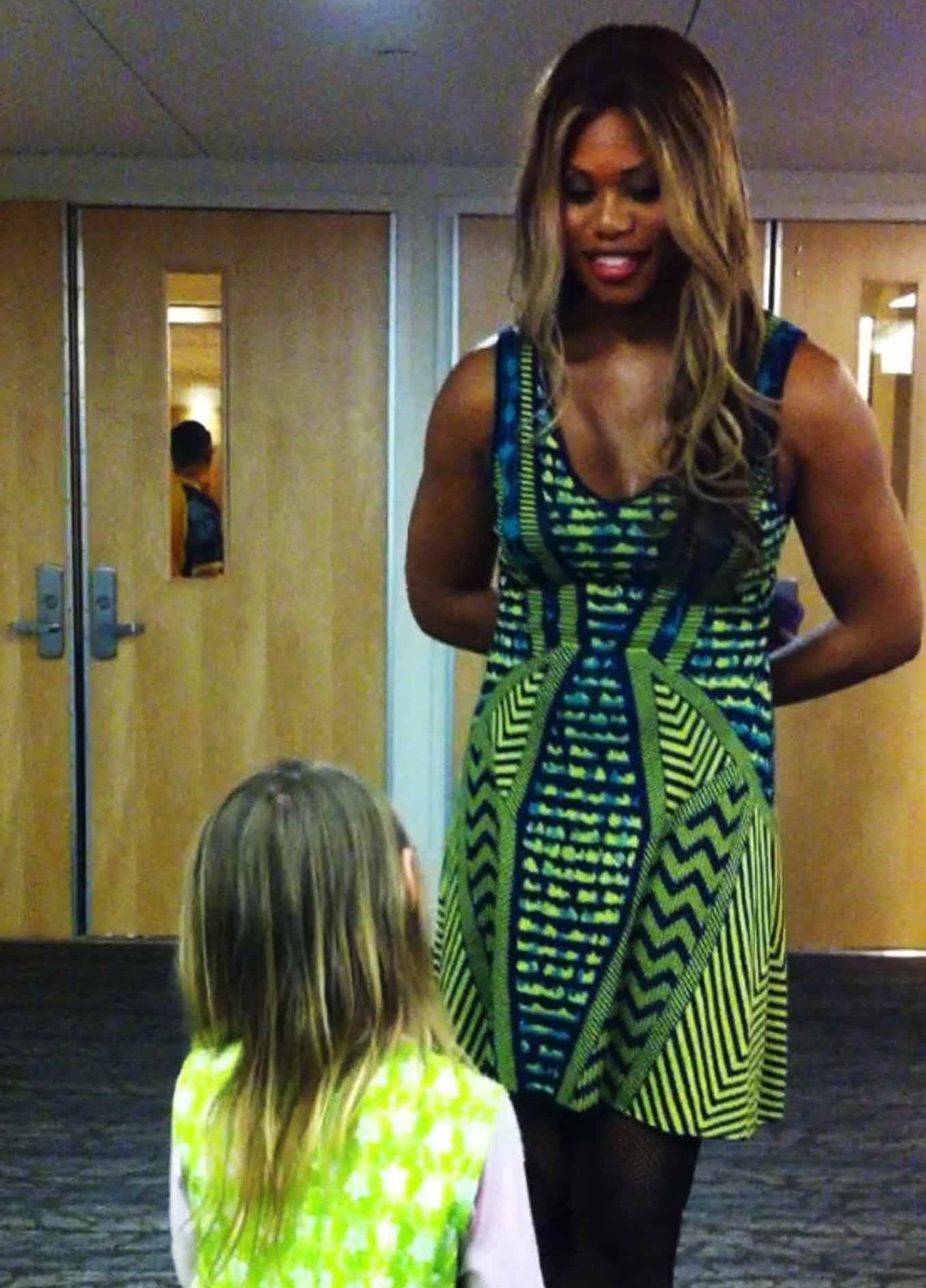 Marlo's daughter meets advocate and actress Laverne Cox.