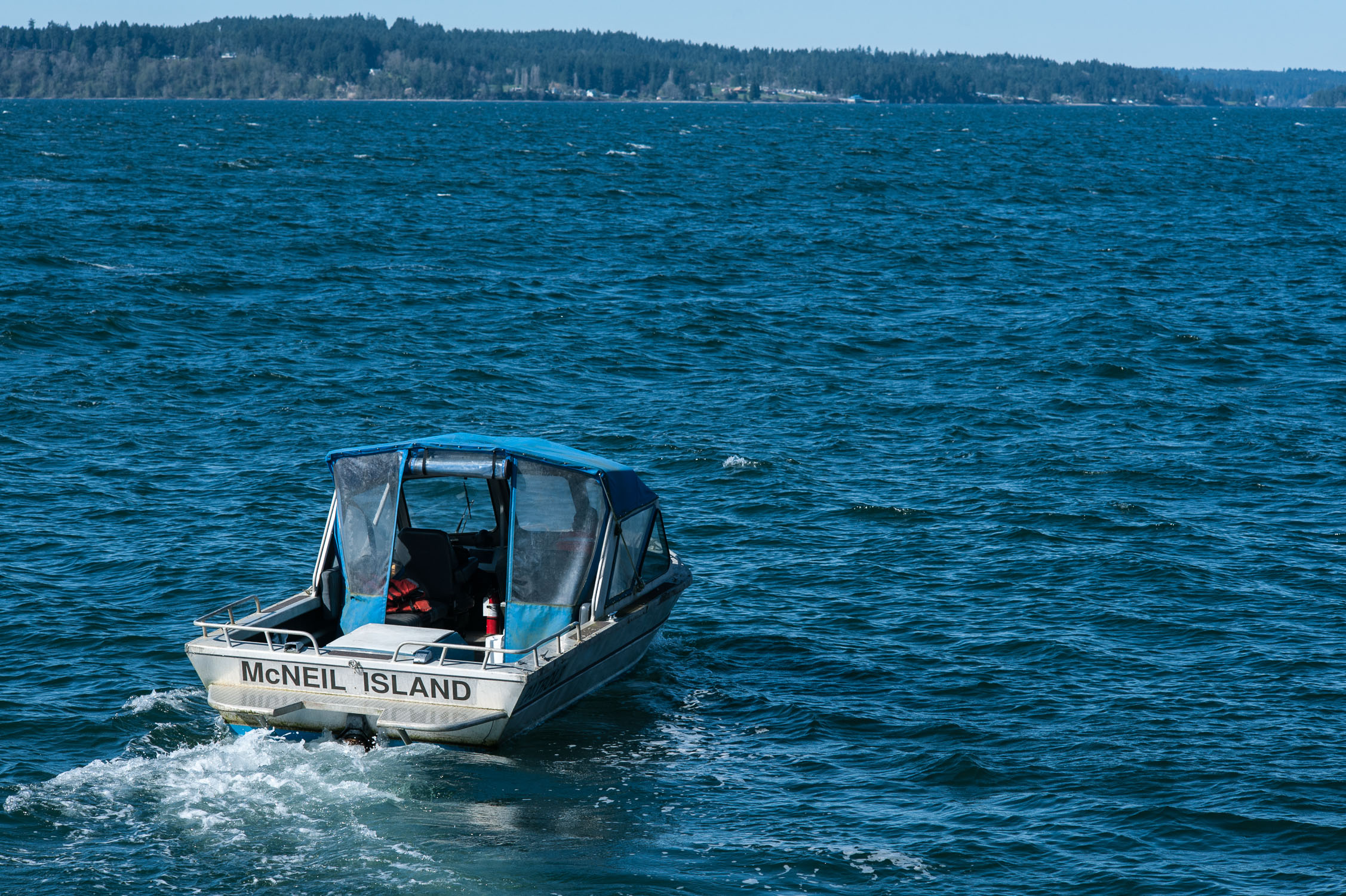 One of several patrol boats that puttered around Steilacoom Ferry Dock.