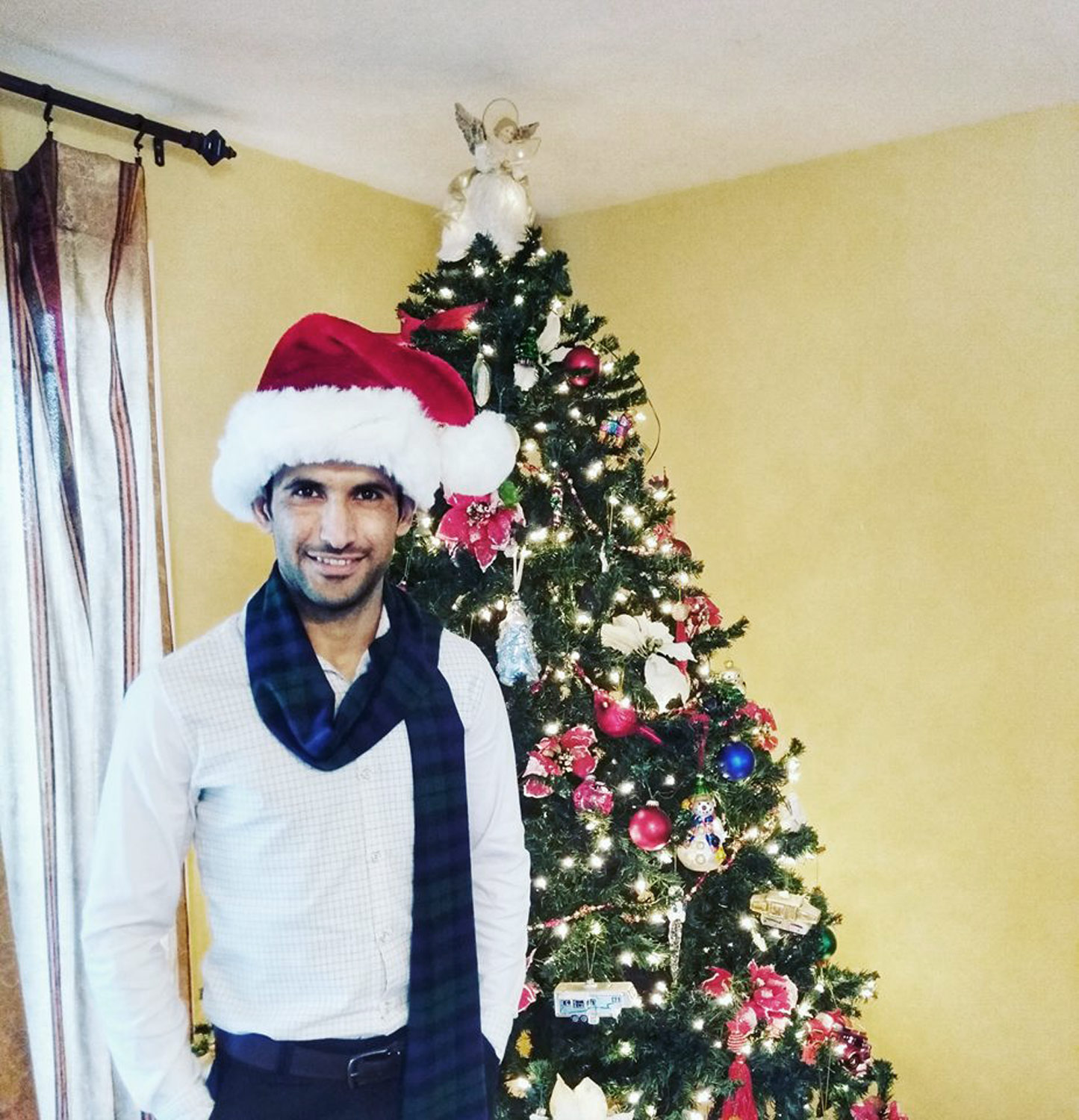 Muhammad Tariq celebrates his first Christmas in Medford Oregon