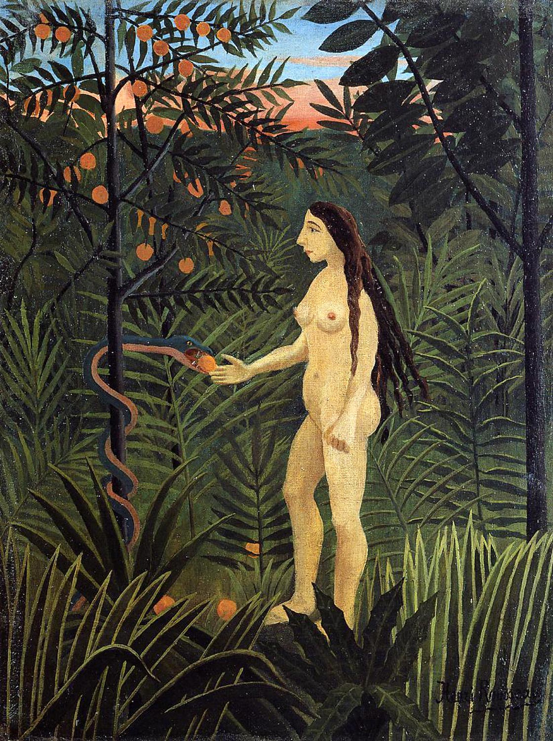 Eve and the Serpent, Henri Rousseau ca.1905