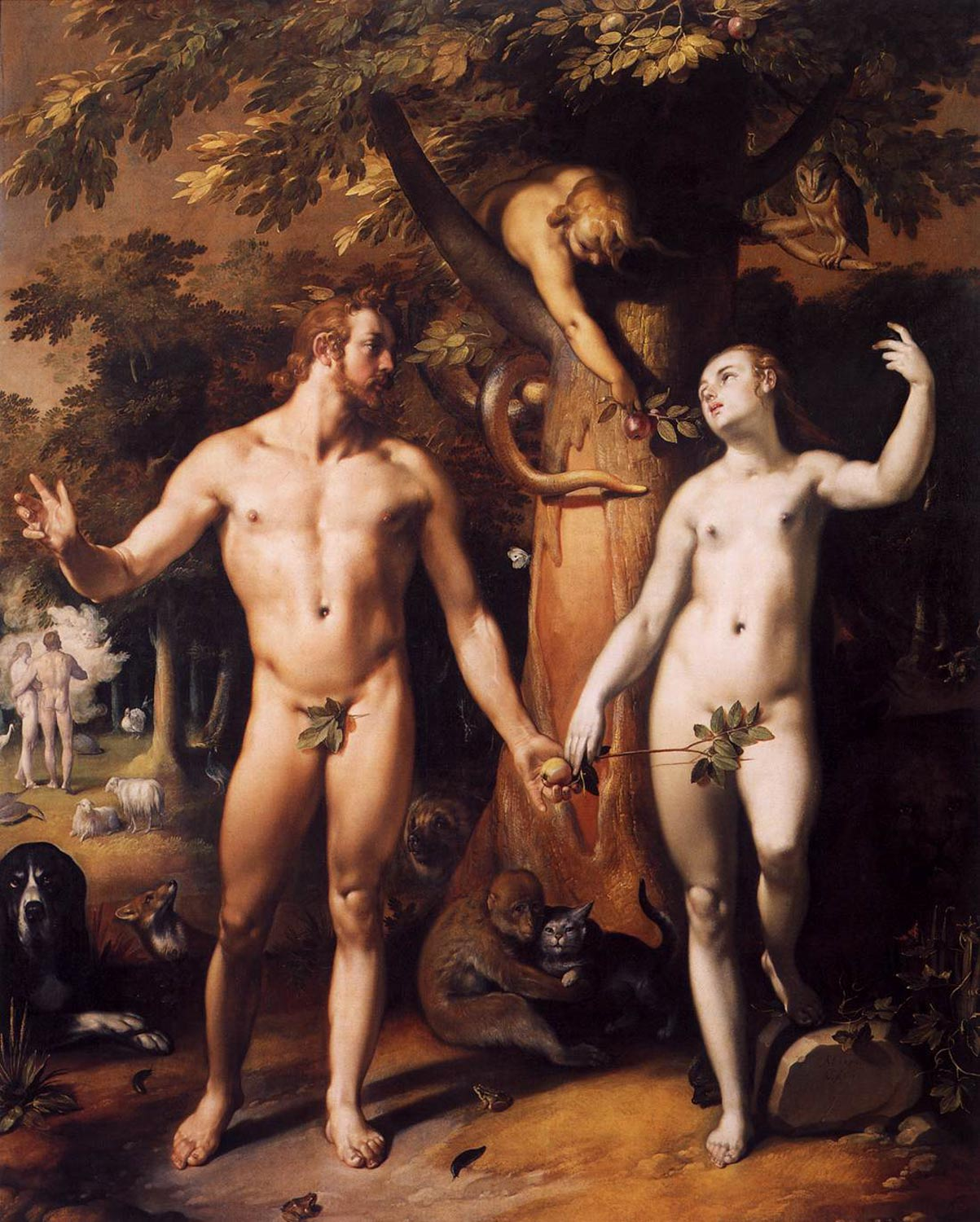 Fall of Man, Cornelis van Haarle, 1592