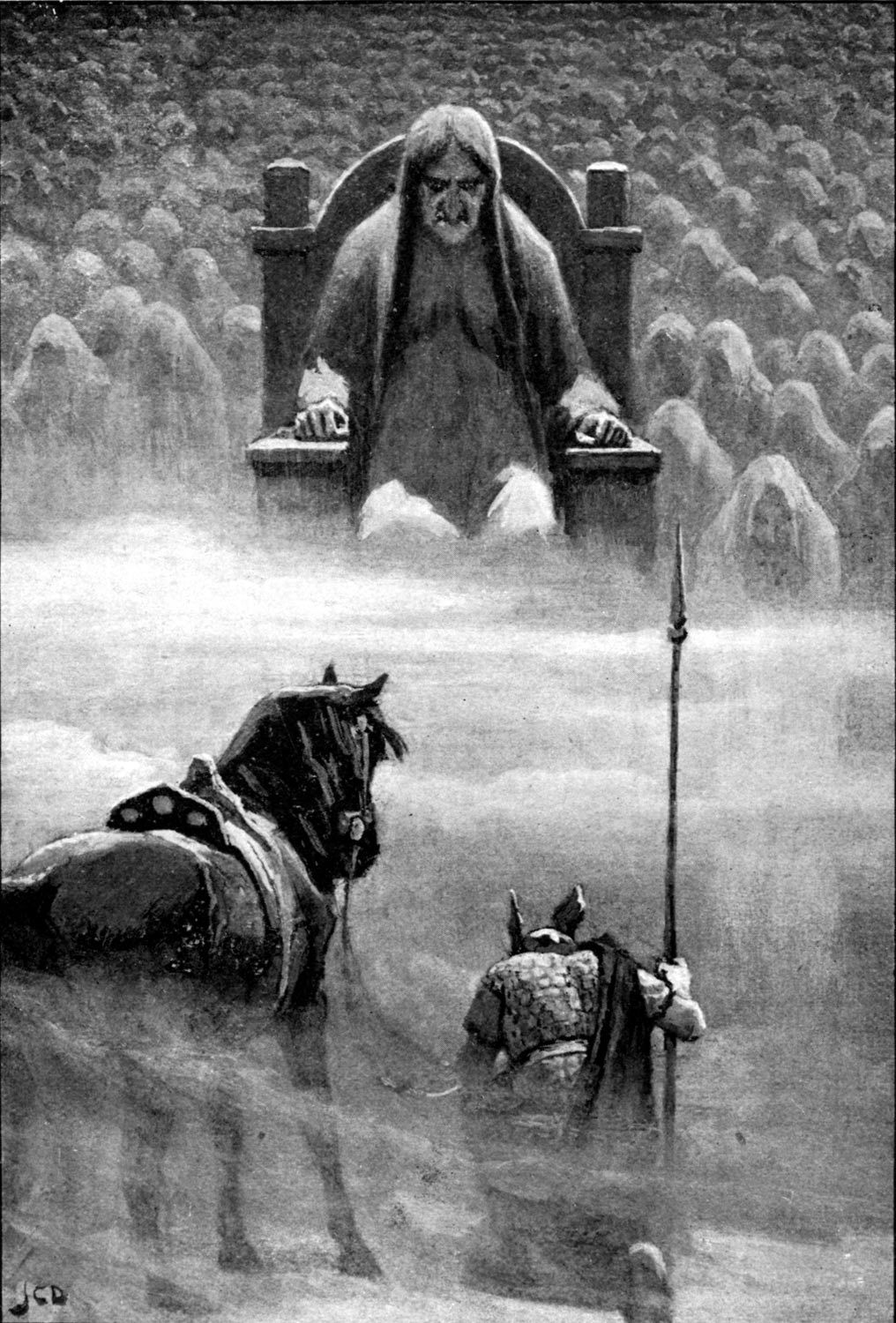 Hermod before Hela , by John Charles Dollman in 1909