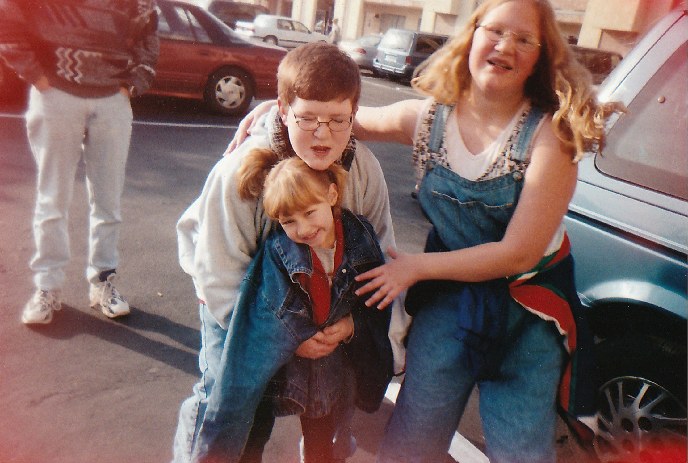 Bethany at Disneyland with her brother Jared and her sister Shelby. 2000.