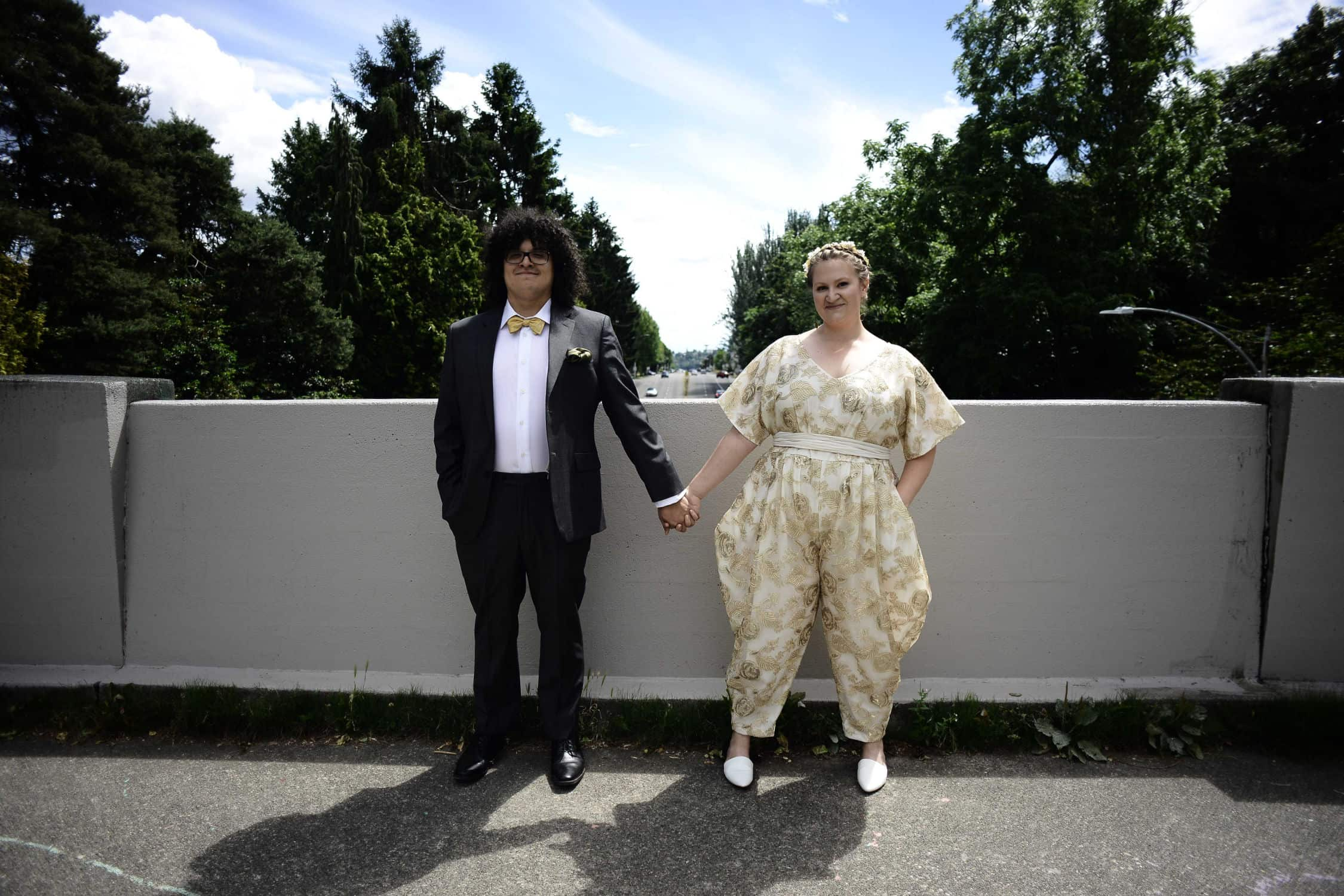 Roberto Molina and Bethany Denton on their wedding day. Photo by Zephyr Wadkins. 2018.