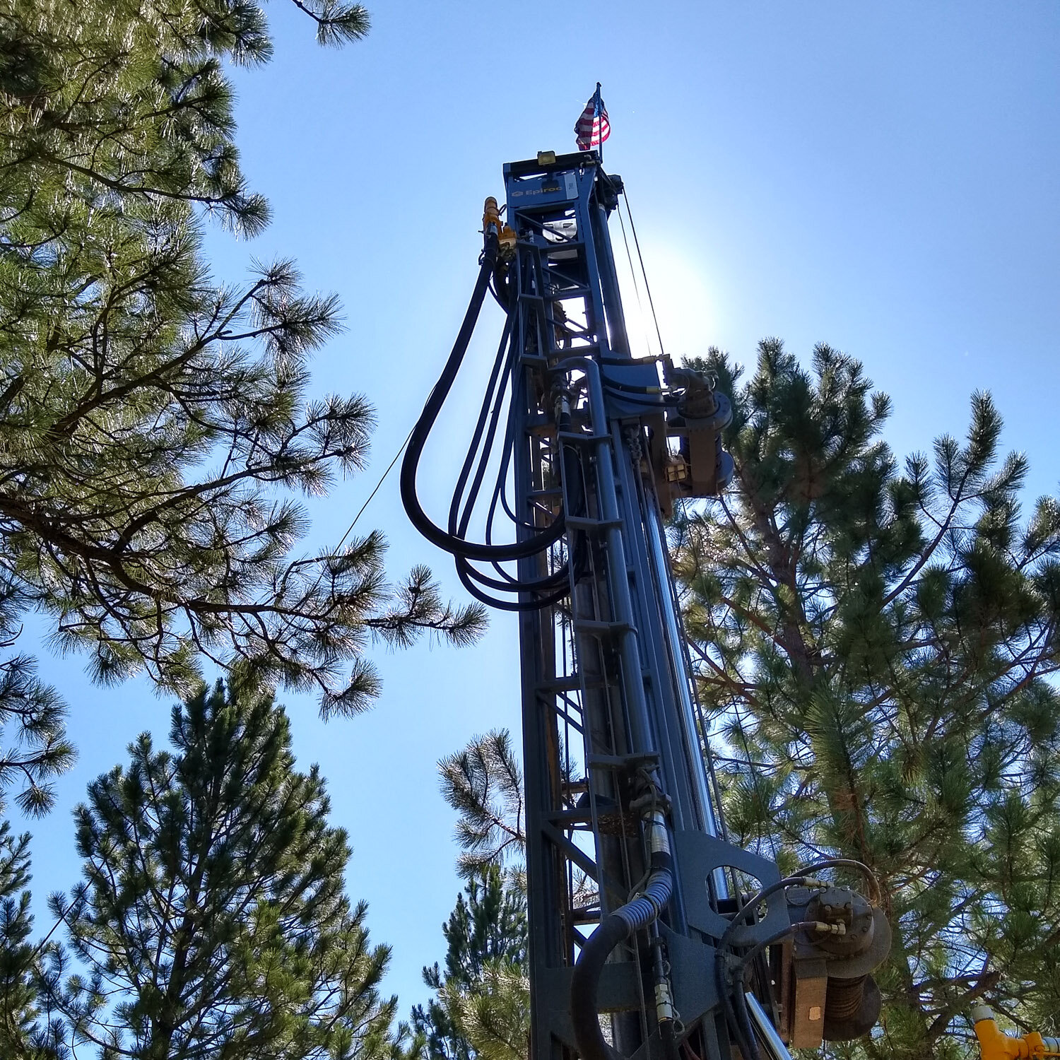 When the boom arm is up, it is approximately 30 feet tall.