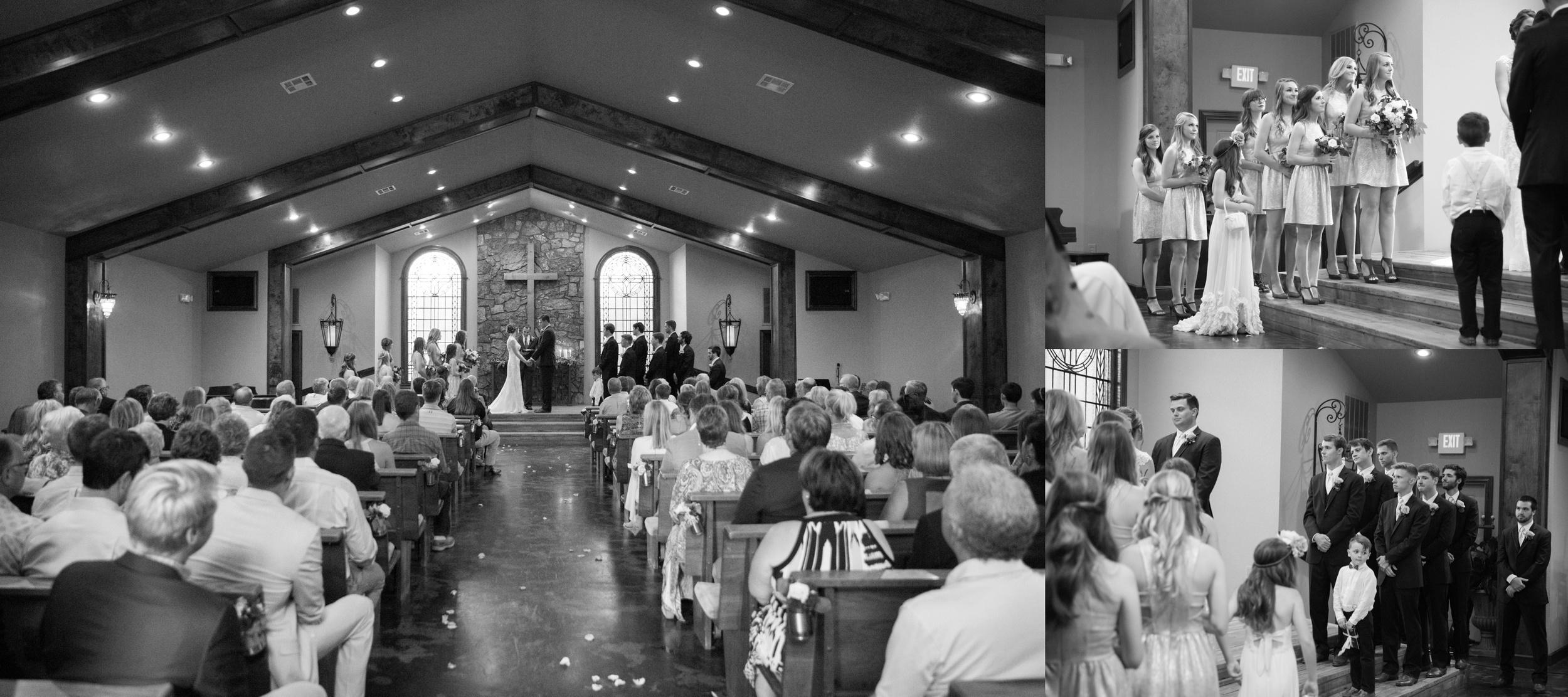 Wedding Ceremony at Stone Chapel at Matt Lane Farms