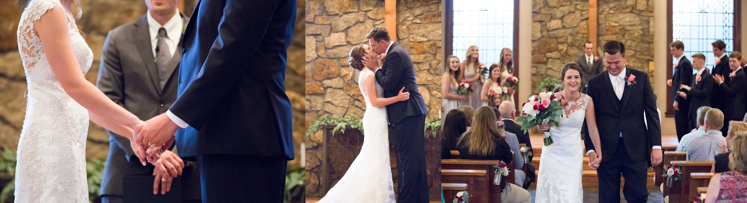 Wedding Ceremony, Stone Chapel at Matt Lane Farms
