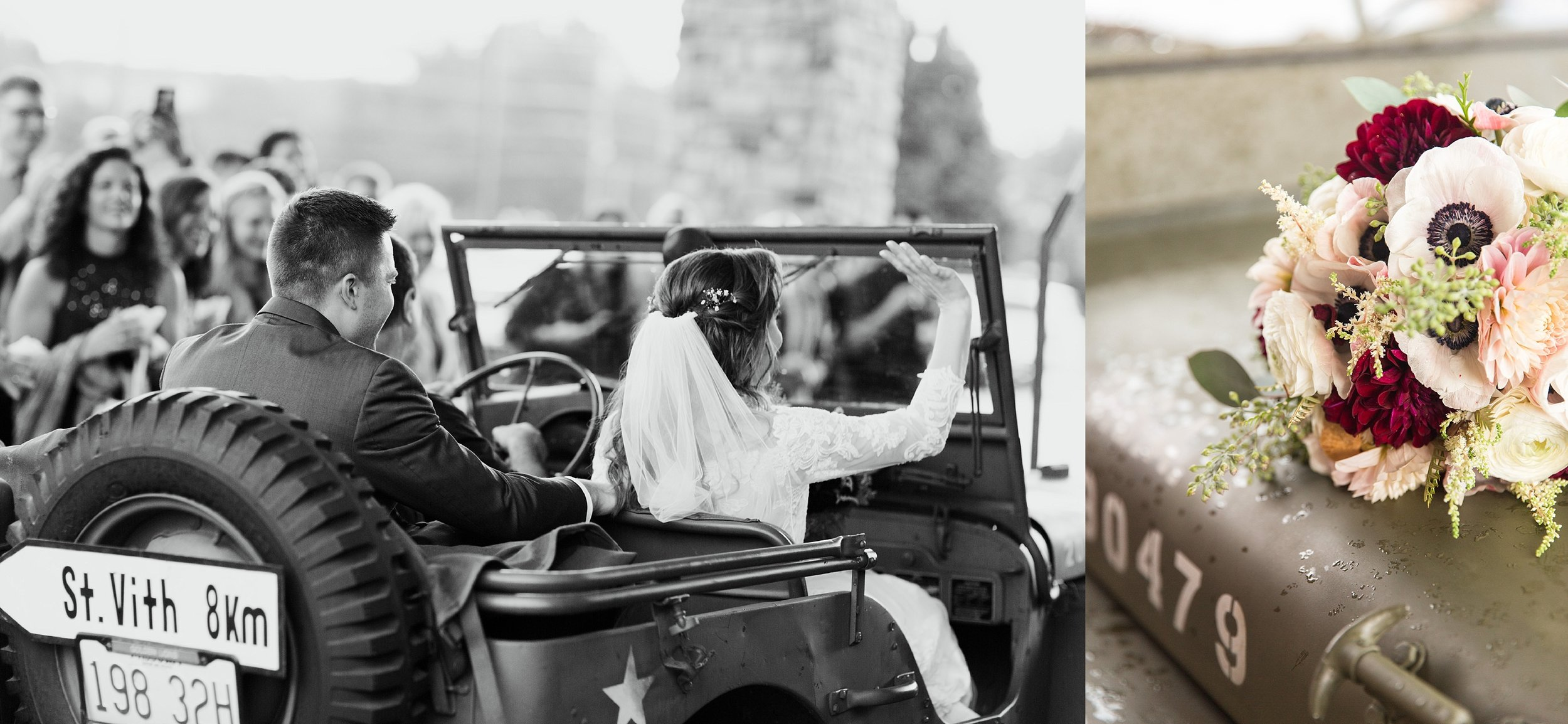 Military Jeep getaway Homan Wedding