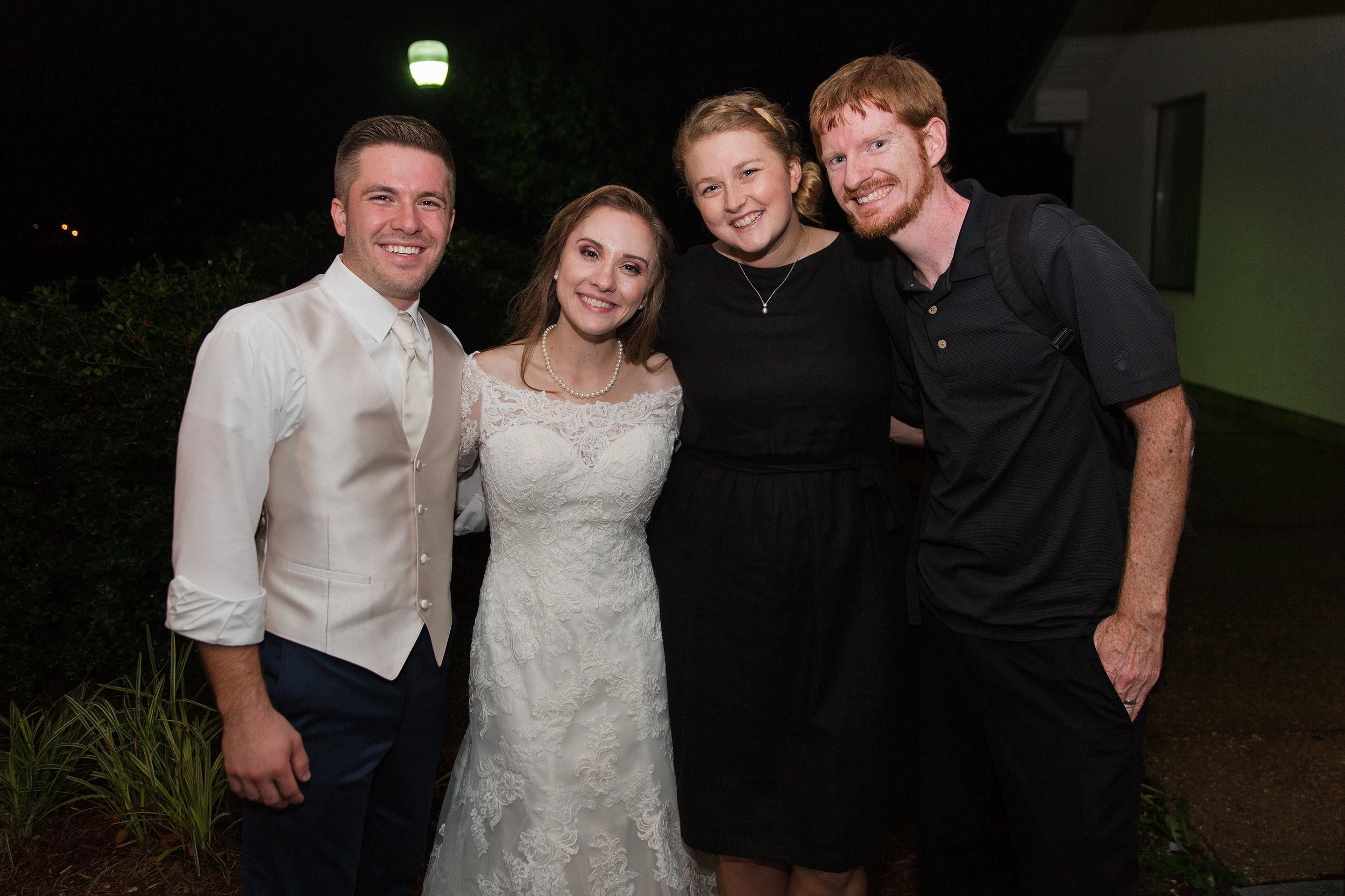 A photo with the photographers. Congratulations Megan + Caleb!!! xoxo-Jessica + William McBroom