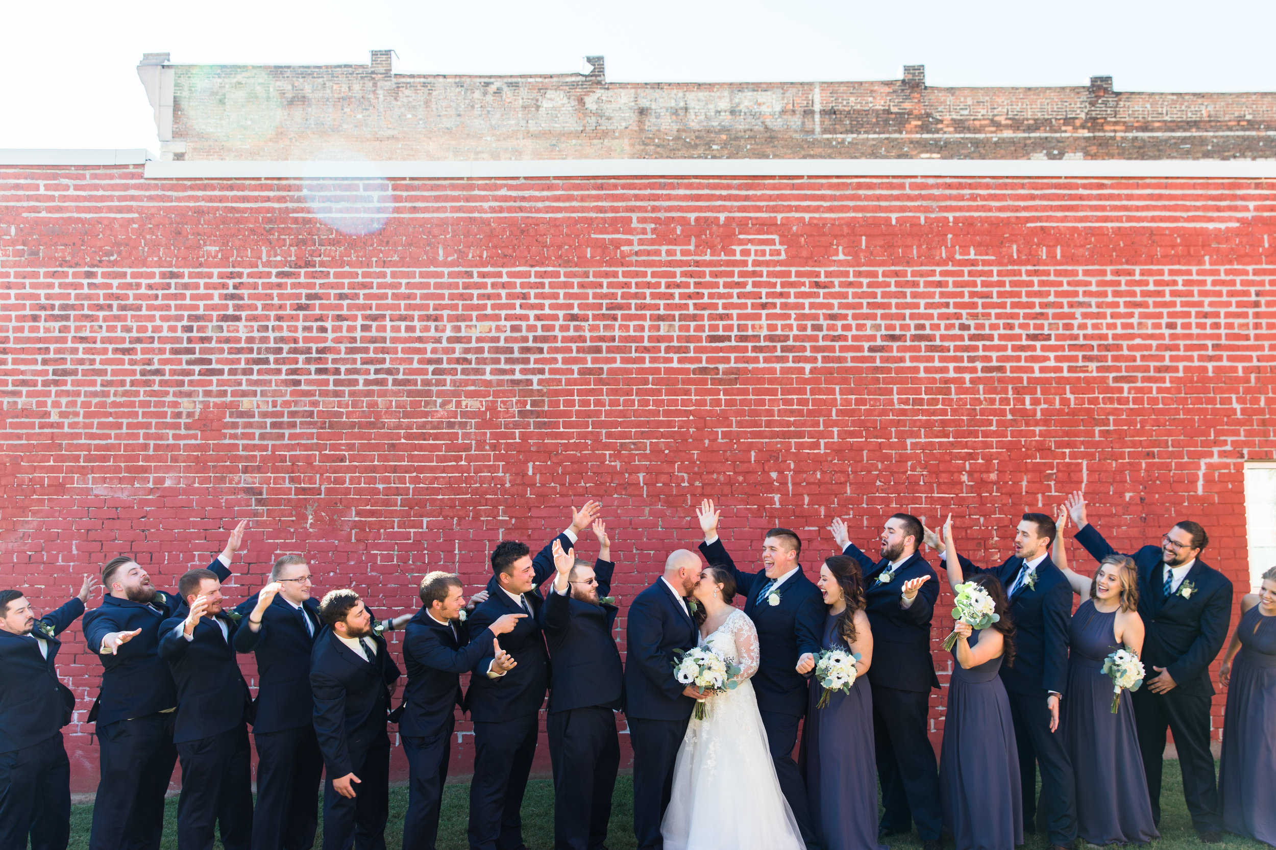 Rachel and Drew had a bomb bridal party. 8 Groomsmen, 4 Bridesmaids and 4 Bridesmen!