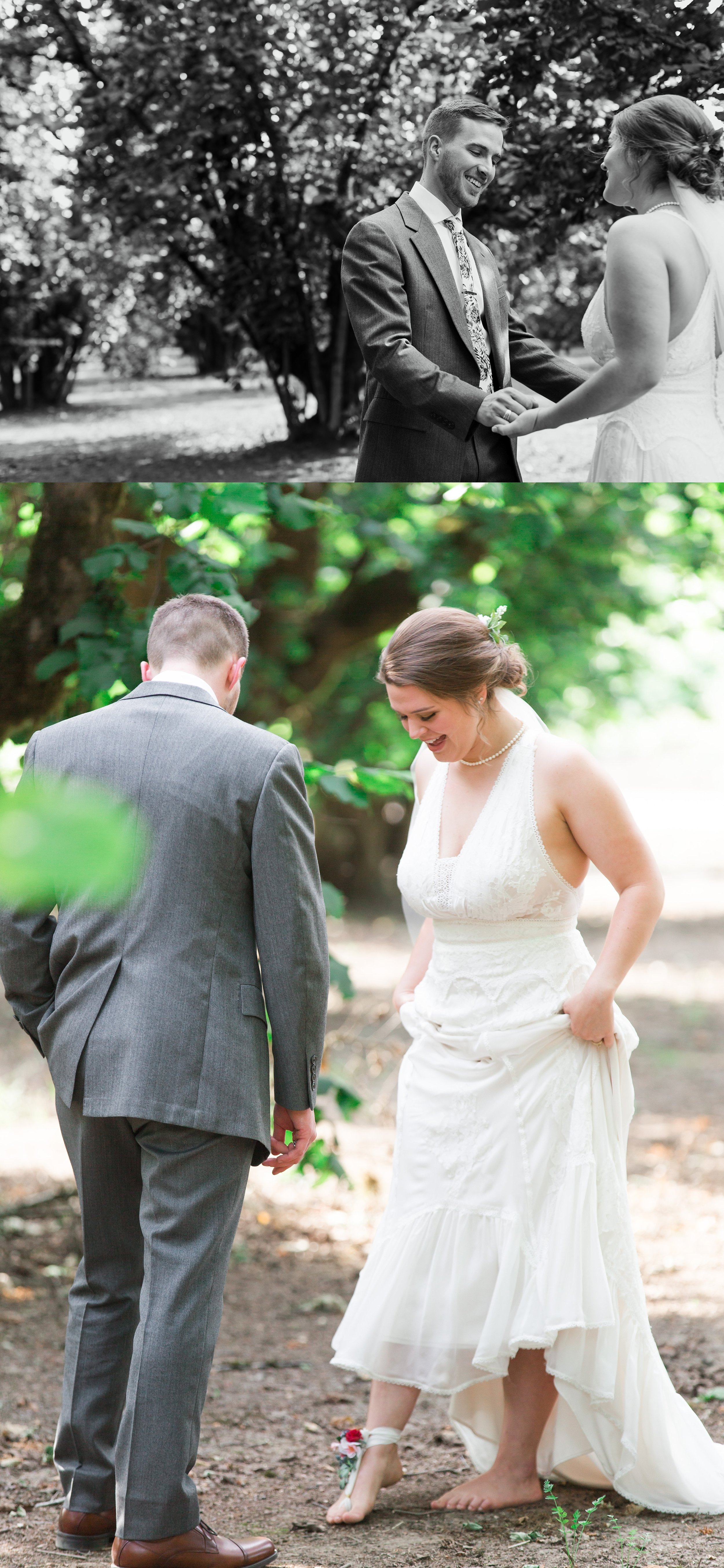 Barefoot Wedding Oklahoma City Wedding Photographer Jessica McBroom