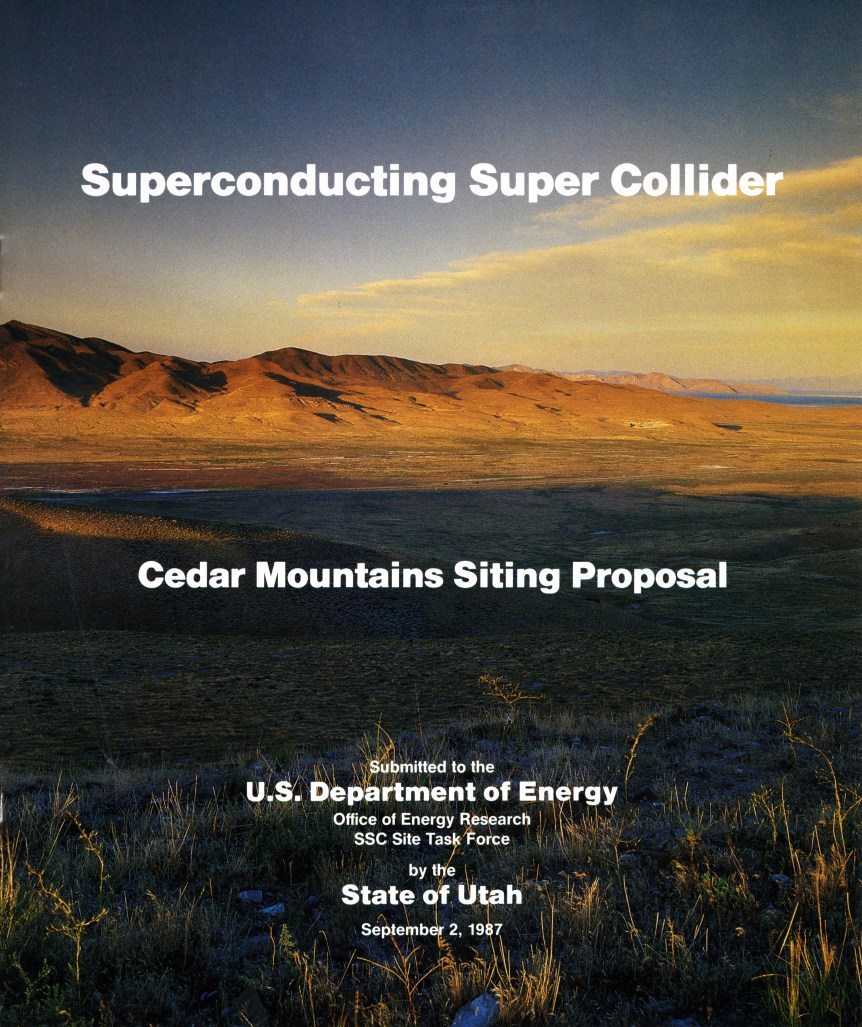 SSC SITING PROPOSAL FOR THE CEDAR MOUNTAINS AREA NEAR SKULL VALLEY (SERIES 83904). PHOTO COURTESY OF THE UTAH STATE ARCHIVES AND RECORDS SERVICE.