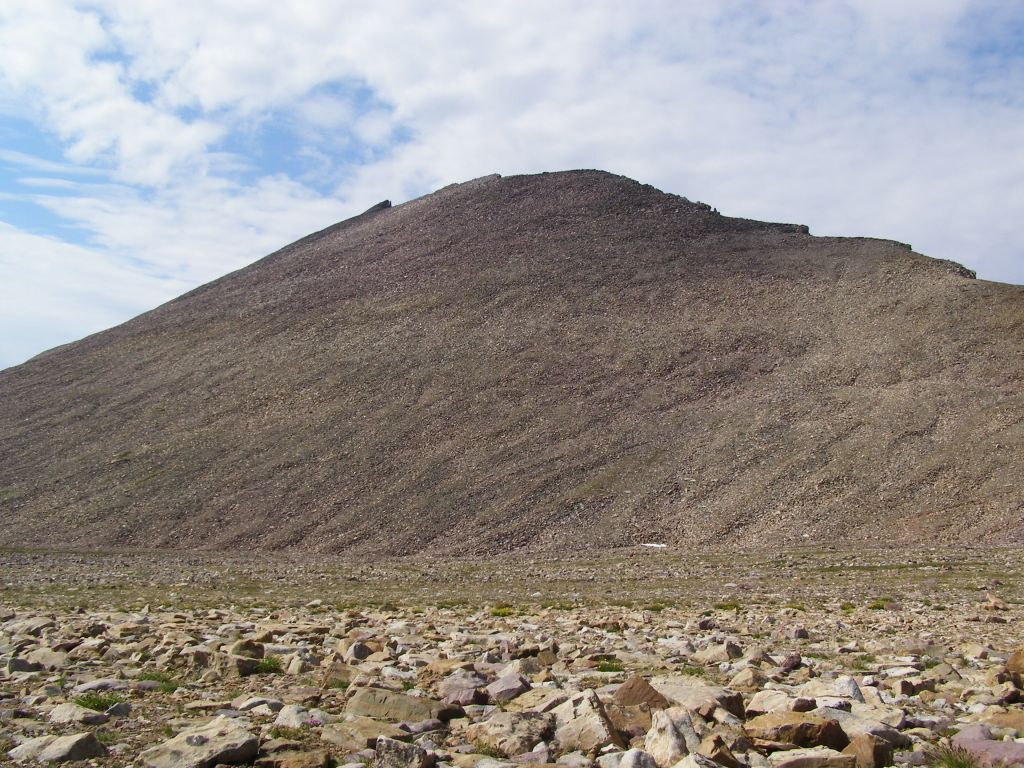 The base of the Kings Peak summit seen from the top of the Anderson Pass.