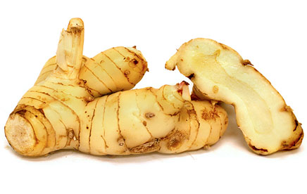 Galangal is sometimes hard to find, but it's at Whole Foods if you are looking for an easy sourcing. It's sweet smell is flowerlike and a significant part of the flavor of the curry. Related to ginger, this root is good for digestion and blood circulation.