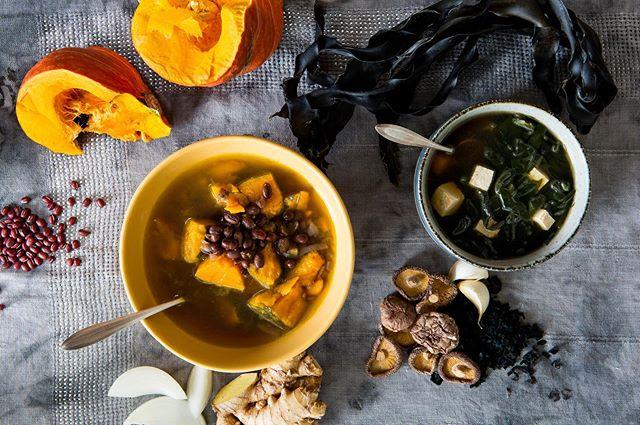 #mamatongsoup #birthday #seaweed #soup & #seasonal squash and adzuki bean soup #allorganicallthetime #madewithlove #plantbased #traditional #healingfoods #womanownedbusiness #berkeley #eastbayeats available @goodeggs photo by @shannonmcphotos