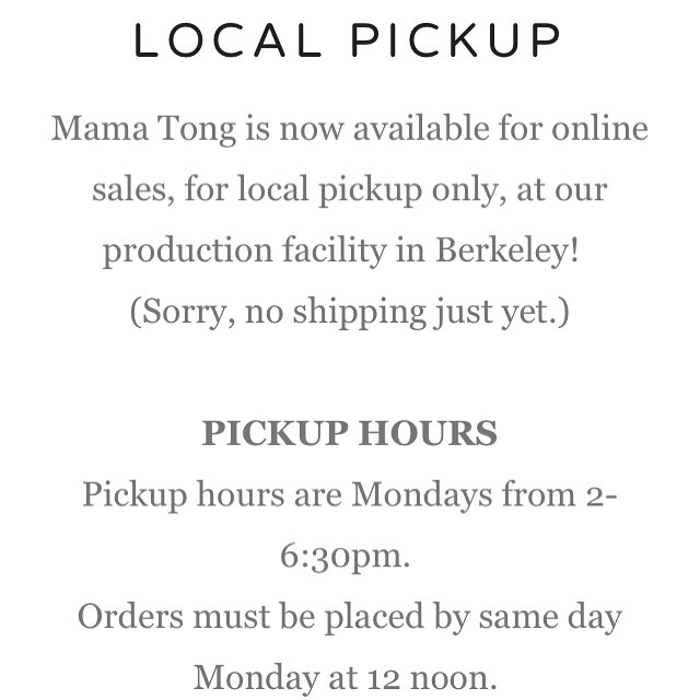 #local #pickup check out the #mamatongsoup website ❤️❤️❤️ #bayarea #berkeley #supportsmallbusiness
