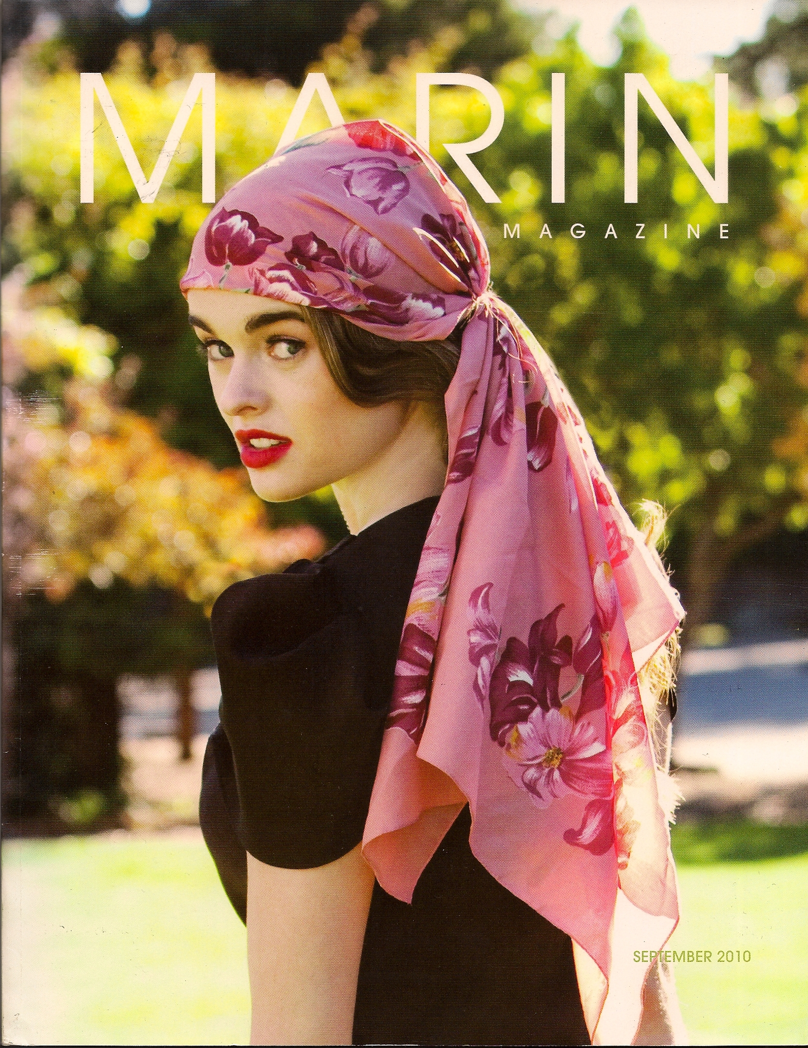 Cover Shot: Model wears Christopher Collins™ Fall 2010 Tulip Top.