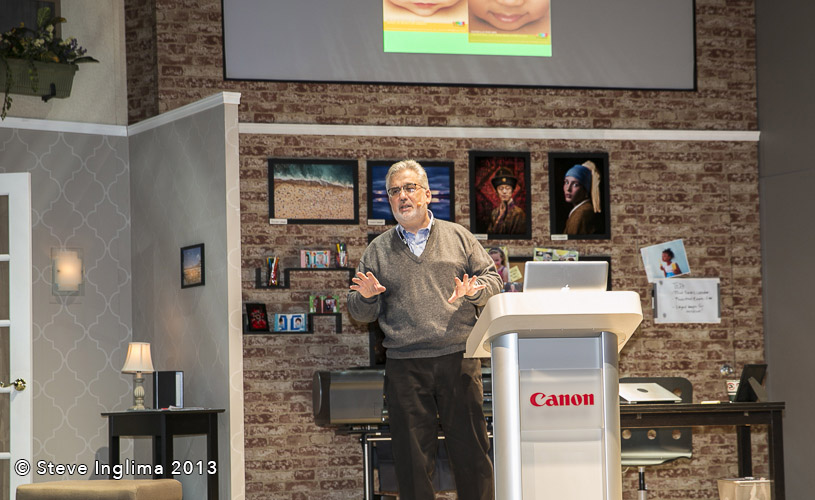 Here I am in the Canon Booth at last year's CES Convention. This year I'll be photographing models on stage along with lecturing. What fun! For me at least. Thanks for this photo Steve. Hard to get selfies on stage.
