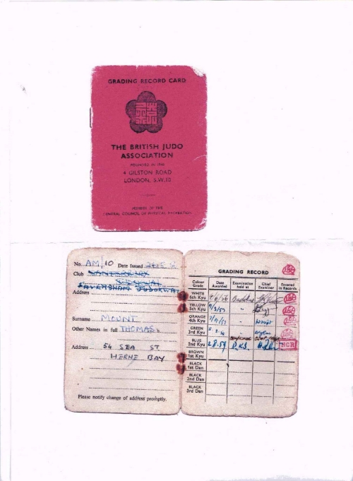 Tom's original license !