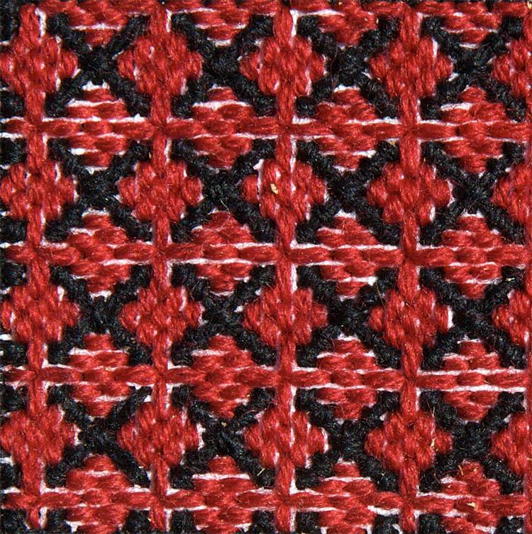 Stitch 69 - Tied Cross