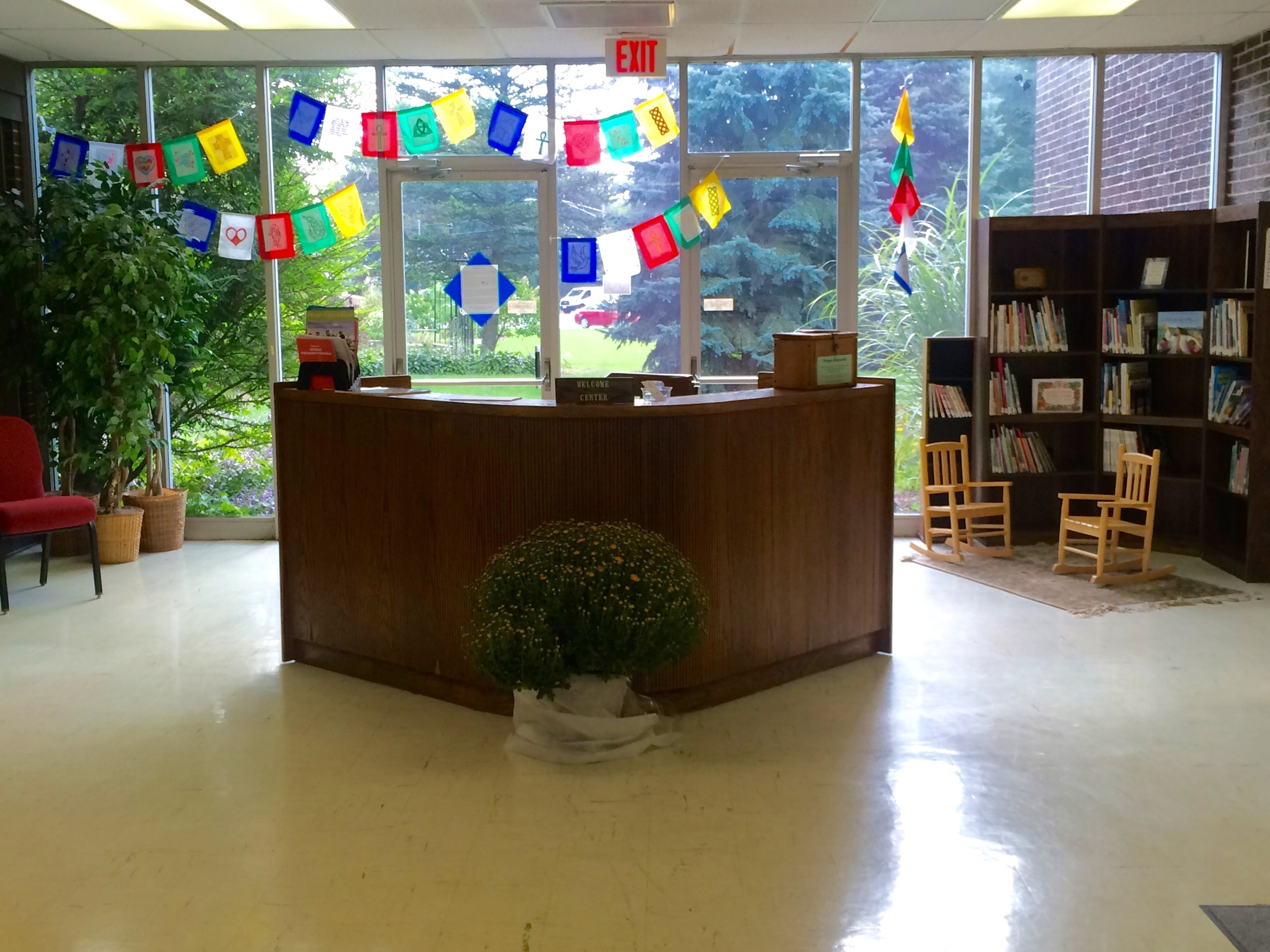 Welcome Center--when you first enter the building, you're greeted here!