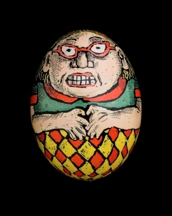 Roz Chast's  Big Egg Lady.  To see more of Chasts's eggs click on the image