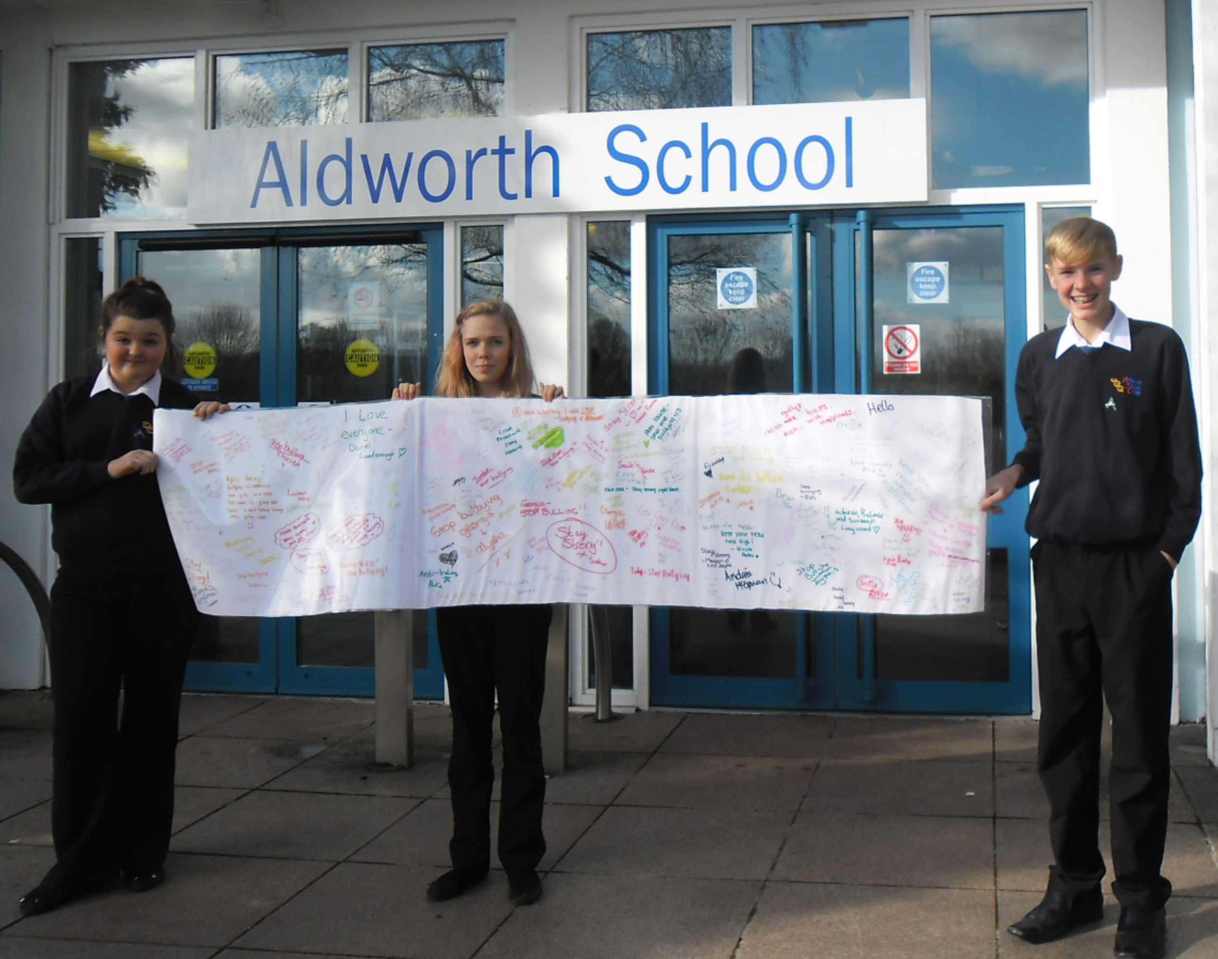 The school's Anti-Bullying pledge board