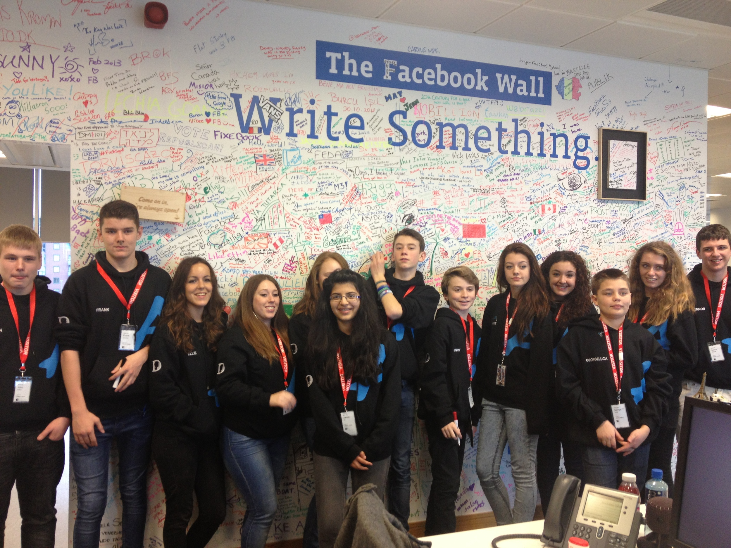 Jack and the Youth Board visit Facebook's Headquarters in Dublin to learn about e-safety