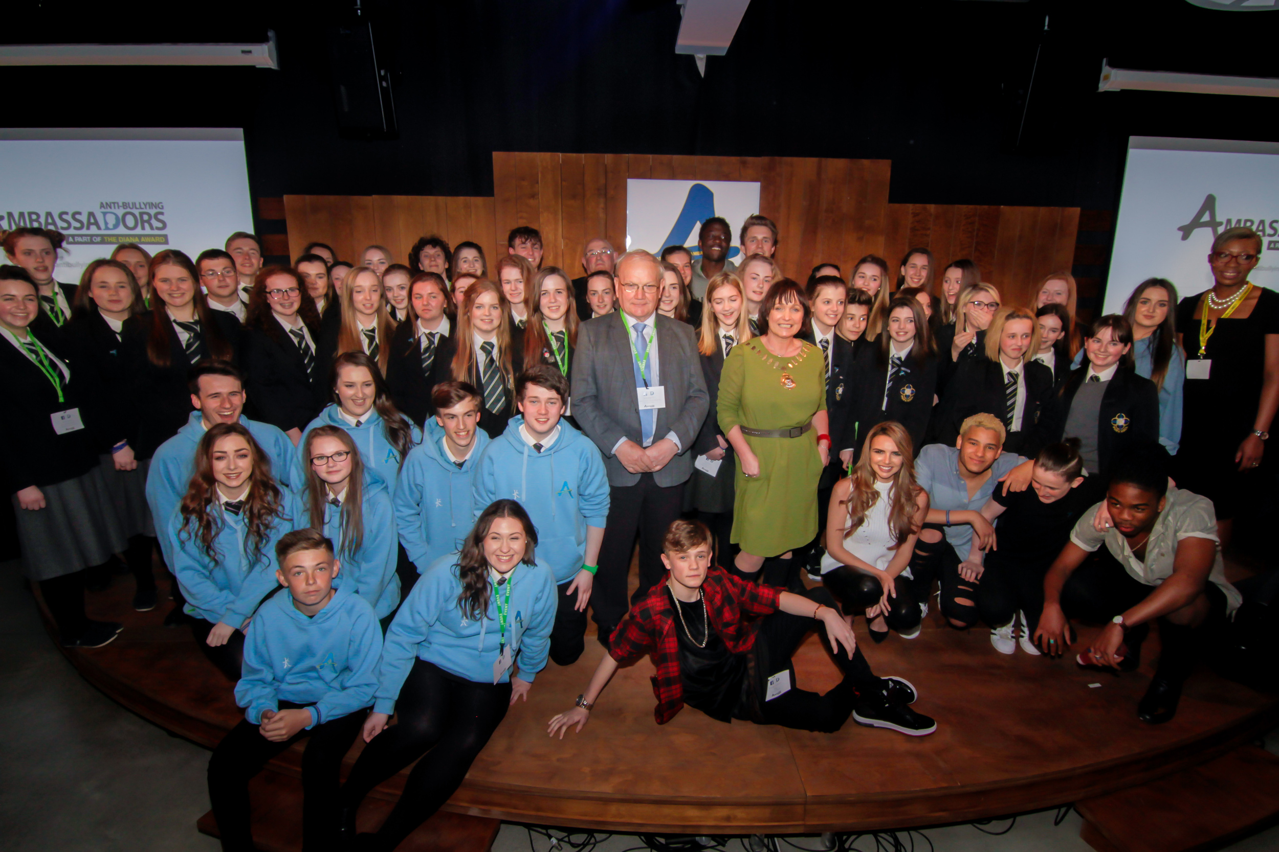 The new Anti-Bullying Ambassador-Diana Award holders