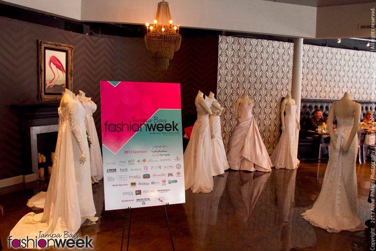 IO Bridal Gowns on display at TBFW Bridal Brunch 2013