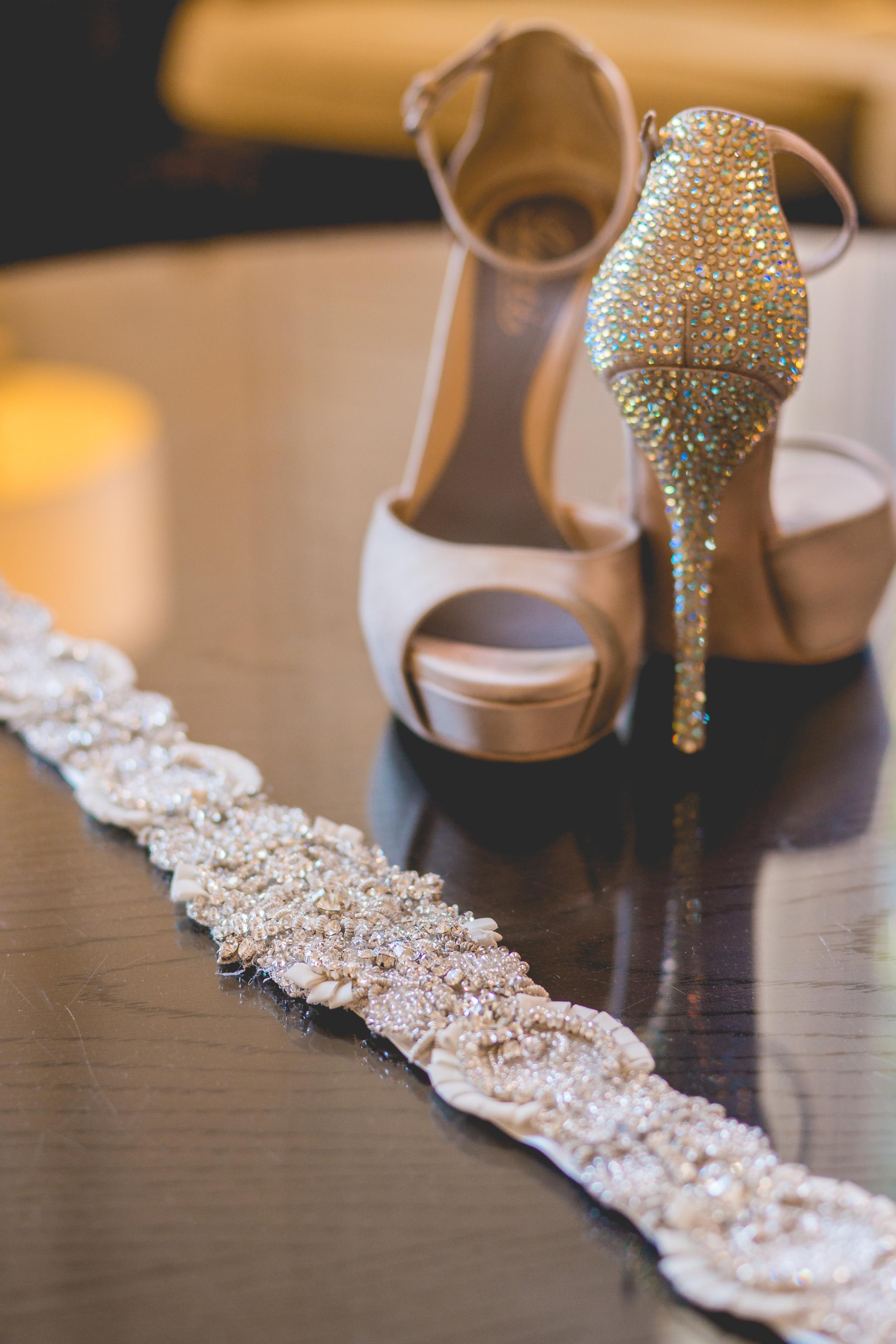 Gucci Shoes and Untamed Petals by Amanda Judge Sash
