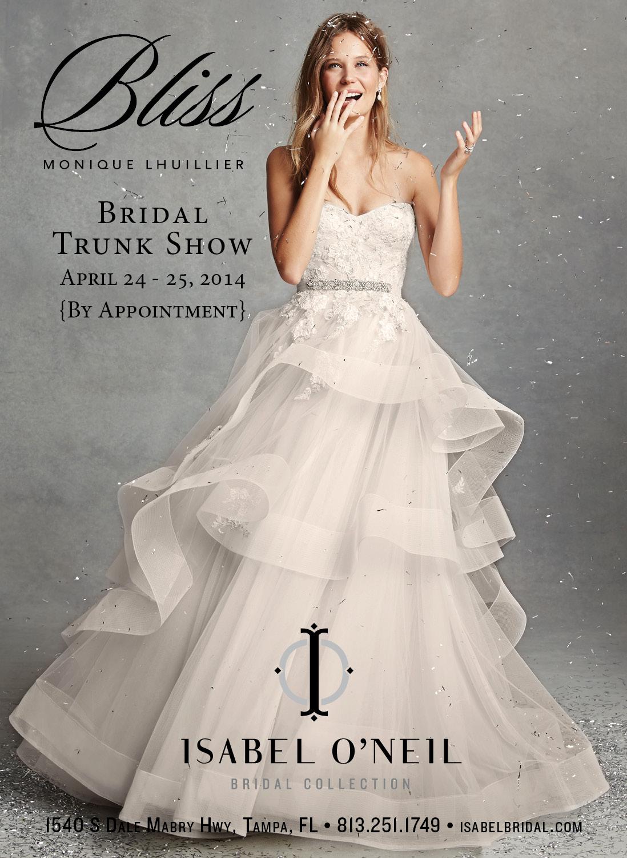 BLISS Monique Lhuillier Wedding Dress Ball Gown Hayley Paige Tampa Bridal Shop