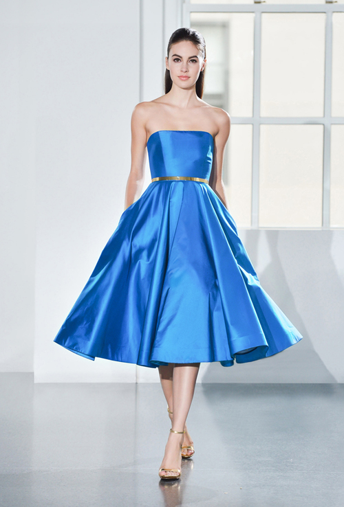 Romona Keveza Evening RTW Blue Cocktail Dress Tampa Shop Store