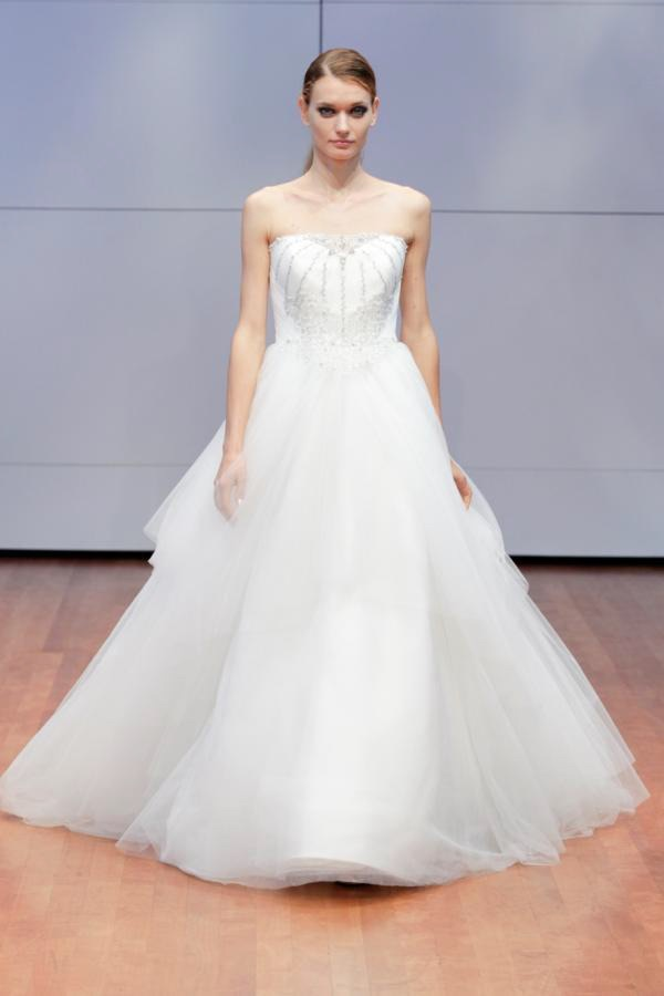 Alyne Strapless Lace Ball Gown Wedding Dress