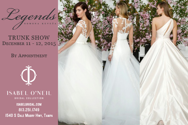 Legends Romona Keveza One Shoulder Ball Gown Low Back Lace Tulle Wedding Dress Tampa Trunk Show