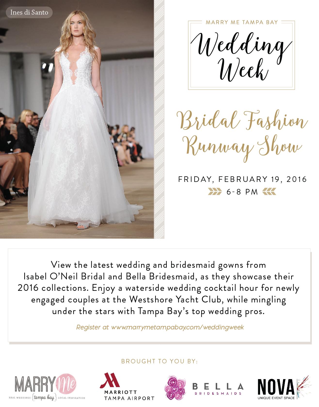 Bridal Fashion Runway Show Marry Me Tampa Bay Wedding Week Ines Di Santo