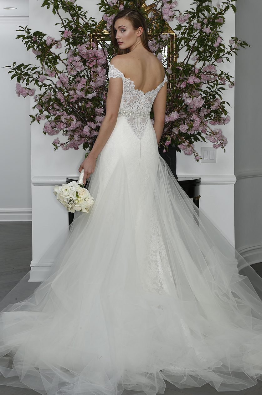 legends romona keveza lace off the should illusion lace low back tulle skirt wedding dress