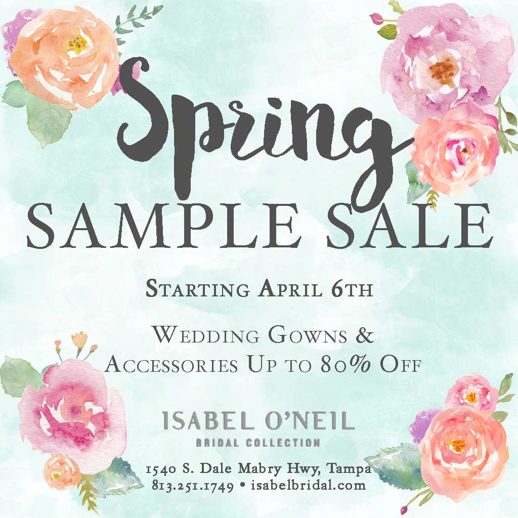 Spring Bridal Sample Sale Wedding Dresses Tampa Shop Boutique