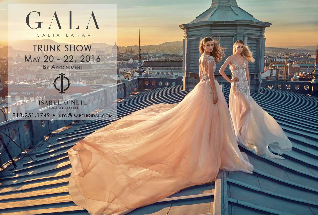 Galia Lahav Wedding Dresses Tampa Trunk Show Sexy Bridal Gown
