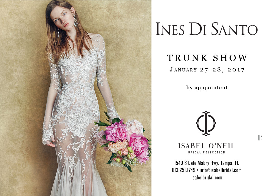 Ines Di Santo Trunk Show Mermaid Lace bridal gown tampa boutique