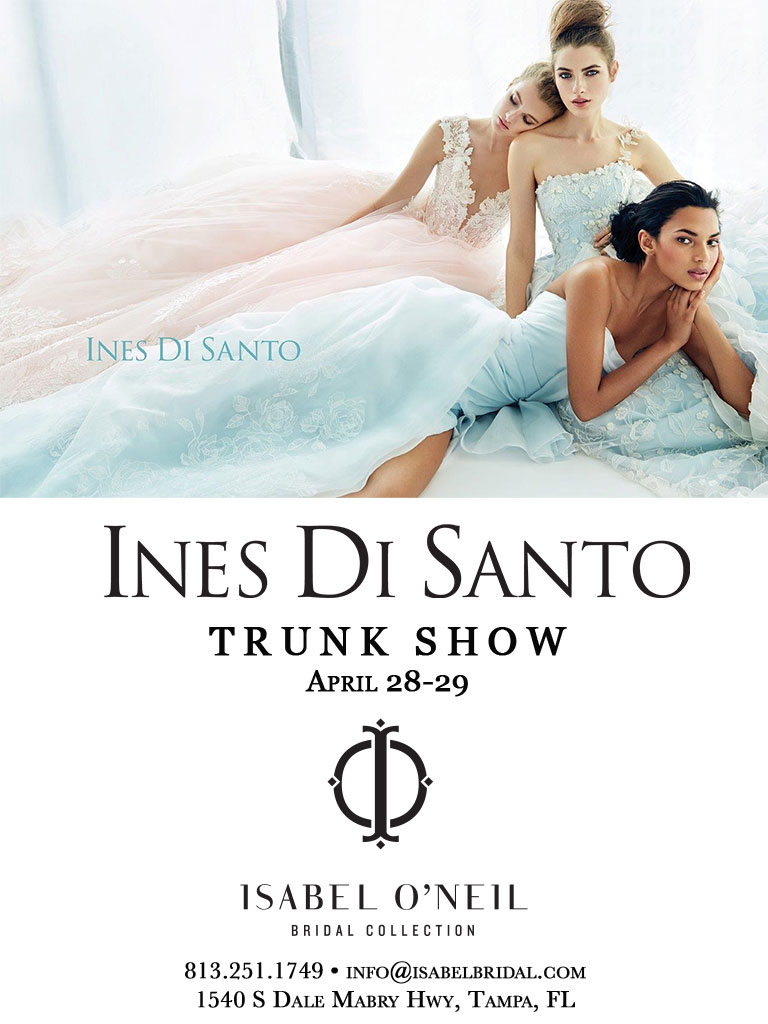 Ines Di Santo Lace Tulle Ball Gown Wedding Dress Trunk Show Tampa Florida Bridal Shop