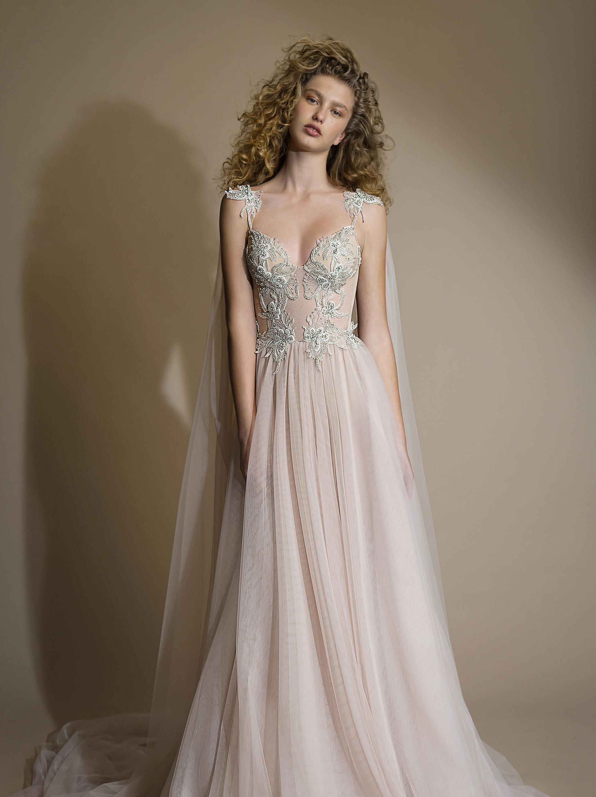 Gala G - 111 beaded corset princess tull ballgown wedding dress