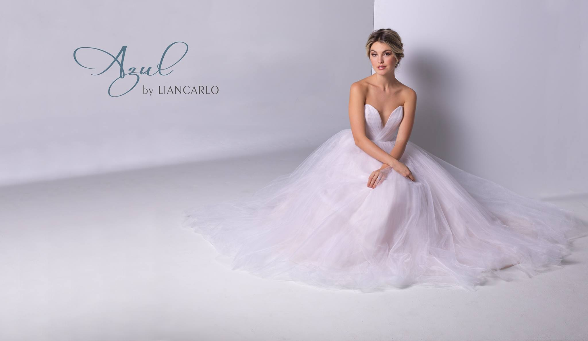Azul by Liancarlo Tulle Strapless Sweetheart Princess Ballgown Wedding Dress Tampa Florida Bridal Shop Plus Size