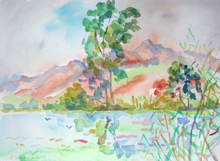 watercolours,bologna,Italian girl,battistero, 030.jpg