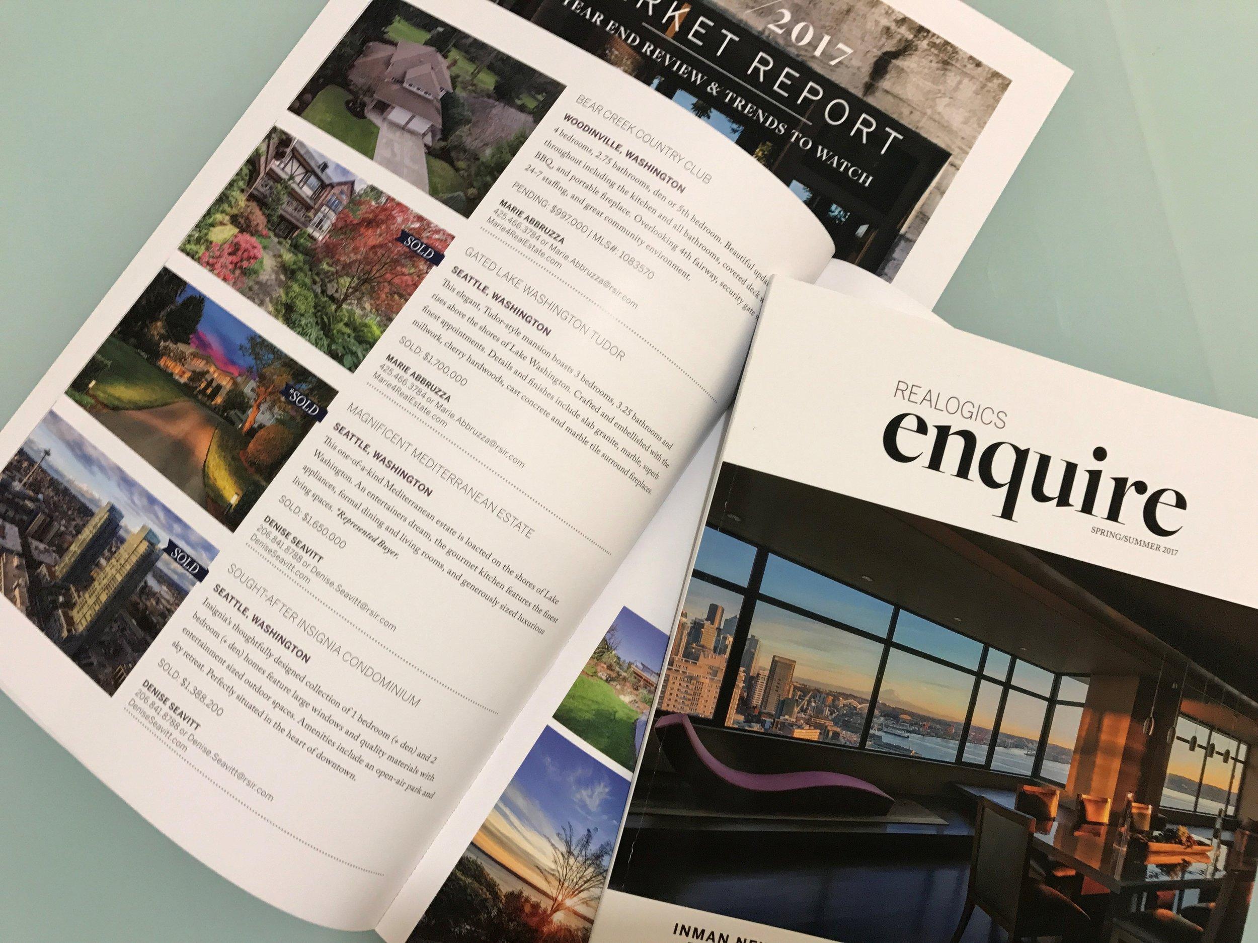 enquire magazine