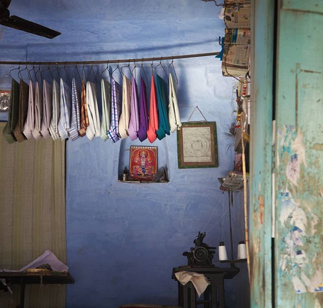Shirts hanging in Bundi, Rajasthan, 2015